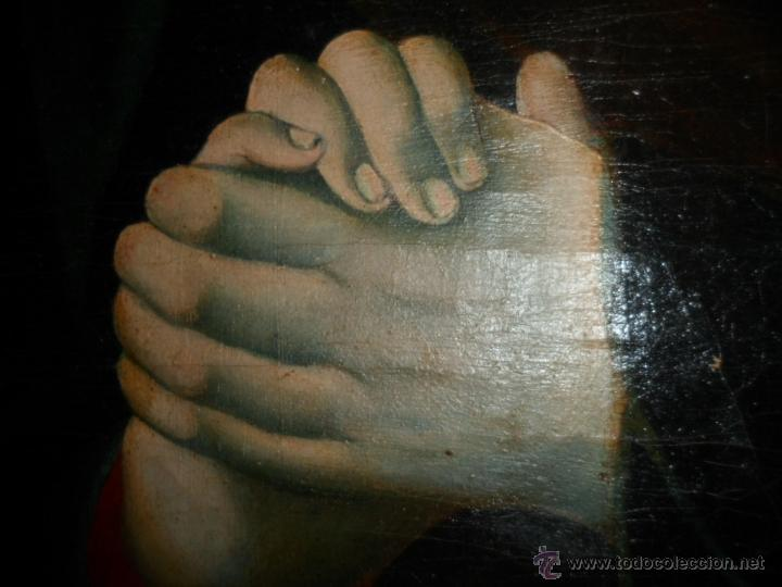 Arte: Antiguo oleo de la Virgen Maria: Siglo 18 [tela muy antigua] - Foto 13 - 41173093