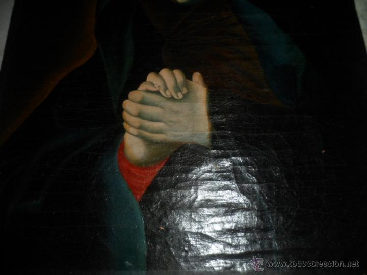 Arte: Antiguo oleo de la Virgen Maria: Siglo 18 [tela muy antigua] - Foto 14 - 41173093