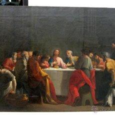 Arte: ANTIGUA PINTURA RELIGIOSA SXVIII-XIX ÚLTIMA CENA. Lote 41190807