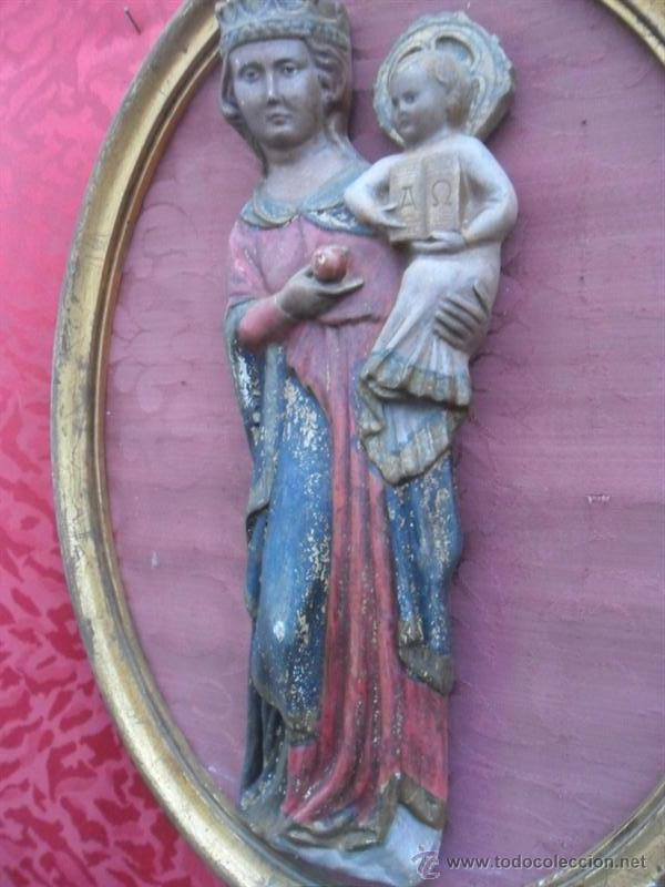Arte: escultura de la virgen en terracota - Foto 2 - 41203620