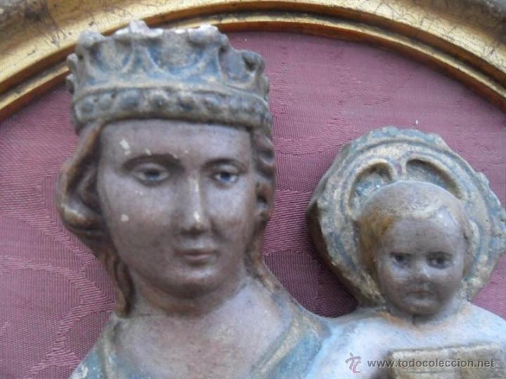 Arte: escultura de la virgen en terracota - Foto 3 - 41203620