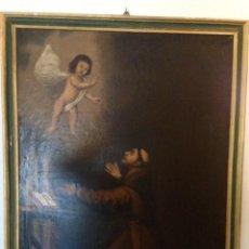 Arte: ANTIGUO CUADRO RELIGIOSO AL OLEO SAN ANTONIO S.XVIII. Lote 41241319