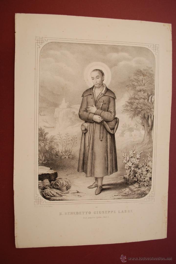 BENEDETTO GIUSEPPE LABRE. SAN JOSÉ LABRADOR. (Arte - Arte Religioso - Litografías)