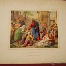 Arte: JESUCRISTO SANANDO A LOS ENFERMOS. ESCENA BÍBLICA. . Lote 41261872