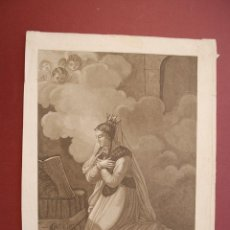 Arte: SANTA ENGRACIA. GRABADO ORIGINAL SIGLO XVIII. . Lote 41262122