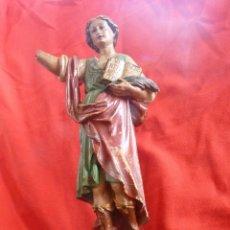 Arte: IMAGEN RELIGIOSA SAN PANCRACIO, TRABAJO Y SALUD, SELLO DE OLOT. Lote 42552752