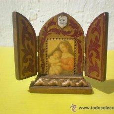 Arte: PEQUEÑO TRIPTICO DORADO. Lote 41384566