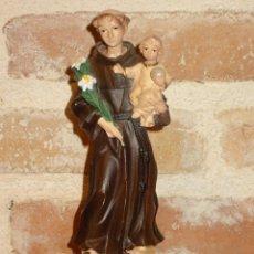 Arte: ANTIGUA FIGURA IMAGEN DE SAN ANTONIO 16,5 CM,. Lote 41393742