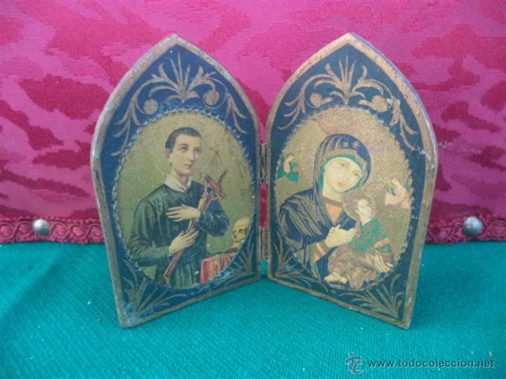 PEQUEÑO ICONO RELIGIOSOS (Arte - Arte Religioso - Trípticos)