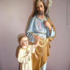 Arte: GRAN IMAGEN DE SAN JOSÉ CON NIÑO, ARTES RELIGIOSAS DE OLOT. Lote 40074954