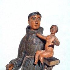 Arte: SAN ANTONIO CON NIÑO SIGLO XVIII. Lote 41440404