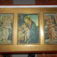 Arte: ANTIGUO TRIPTICO CUADRO CON MOTIVOS RELIGIOSOS. Lote 41448734