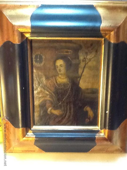 ESPECTACULAR OLEO SOBRE COBRE. SANTA CATALINA. SIGLO XVII (Arte - Arte Religioso - Pintura Religiosa - Oleo)