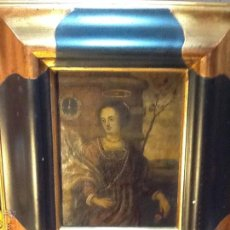 Arte: ESPECTACULAR OLEO SOBRE COBRE. SANTA CATALINA. SIGLO XVII. Lote 41487741