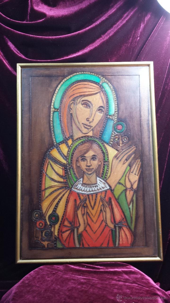 GRABADO VIRGEN CON NIÑO. (Arte - Arte Religioso - Grabados)