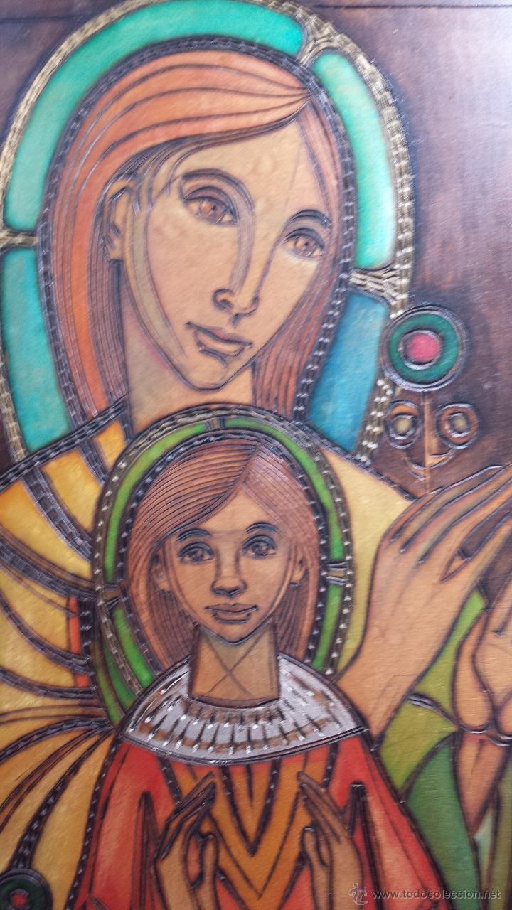 Arte: Grabado Virgen con niño. - Foto 2 - 41527029