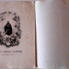 Arte: ANTIGUA LITOGRAFIA DEL BEATO PEDRO CLAVER DE LA COMPAÑIA DE JESUS . Lote 41587441