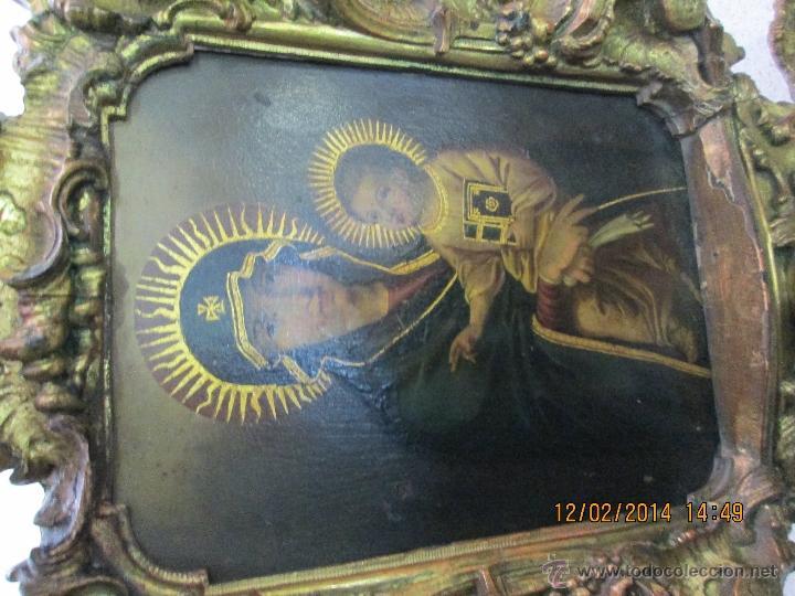 Arte: ANTIGUA SACRA ORIGINAL BARROCA S. XVII-PINTURA SOBRE COBRE icono Salus Populi Romani-Capilla Paulina - Foto 10 - 39683371