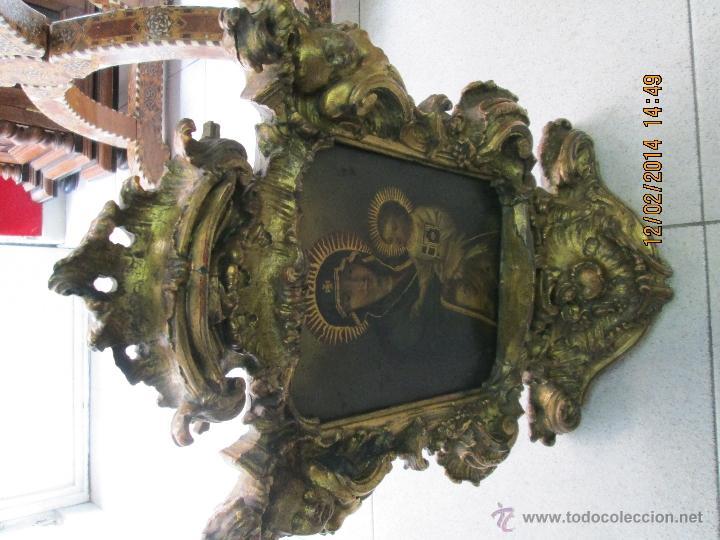 Arte: ANTIGUA SACRA ORIGINAL BARROCA S. XVII-PINTURA SOBRE COBRE icono Salus Populi Romani-Capilla Paulina - Foto 11 - 39683371