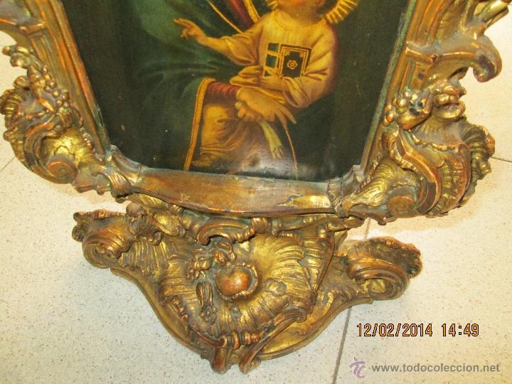 Arte: ANTIGUA SACRA ORIGINAL BARROCA S. XVII-PINTURA SOBRE COBRE icono Salus Populi Romani-Capilla Paulina - Foto 13 - 39683371