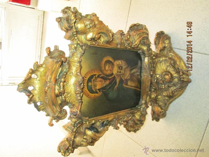 Arte: ANTIGUA SACRA ORIGINAL BARROCA S. XVII-PINTURA SOBRE COBRE icono Salus Populi Romani-Capilla Paulina - Foto 14 - 39683371