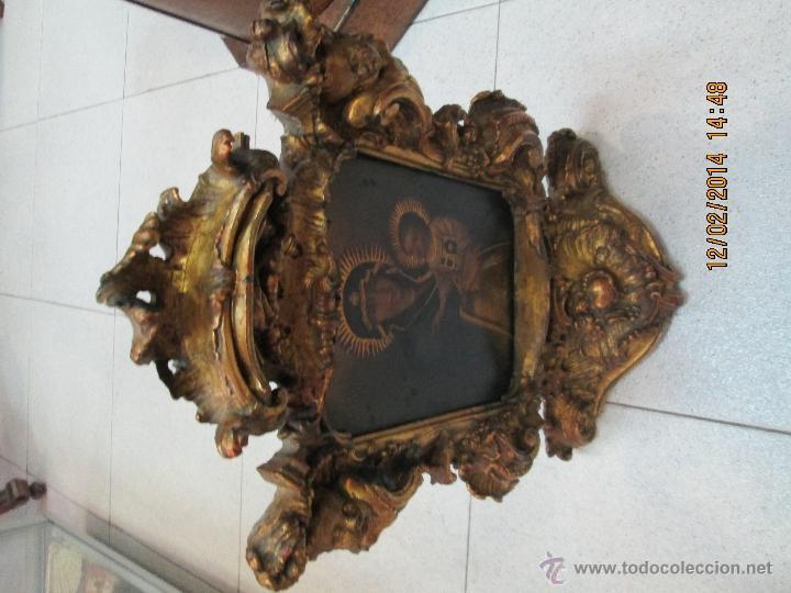 Arte: ANTIGUA SACRA ORIGINAL BARROCA S. XVII-PINTURA SOBRE COBRE icono Salus Populi Romani-Capilla Paulina - Foto 15 - 39683371