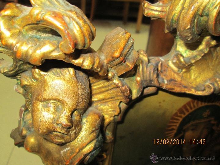 Arte: ANTIGUA SACRA ORIGINAL BARROCA S. XVII-PINTURA SOBRE COBRE icono Salus Populi Romani-Capilla Paulina - Foto 29 - 39683371