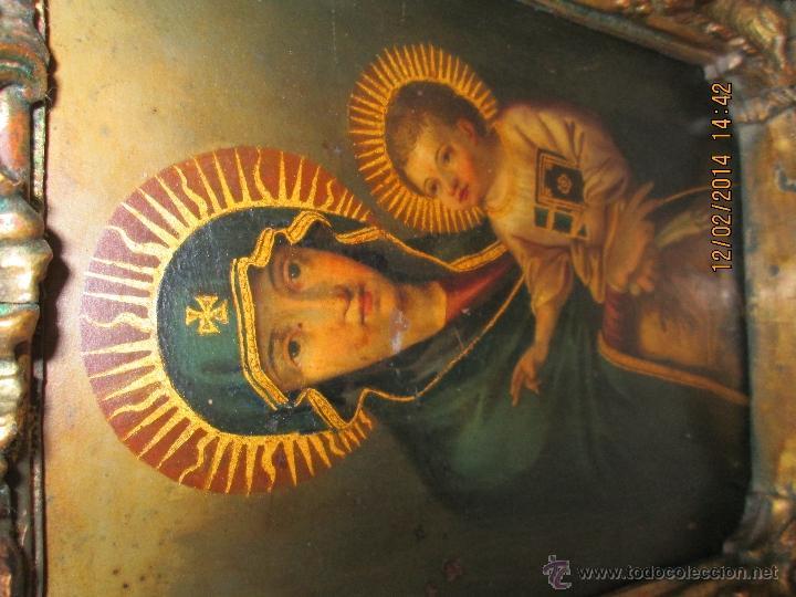Arte: ANTIGUA SACRA ORIGINAL BARROCA S. XVII-PINTURA SOBRE COBRE icono Salus Populi Romani-Capilla Paulina - Foto 33 - 39683371