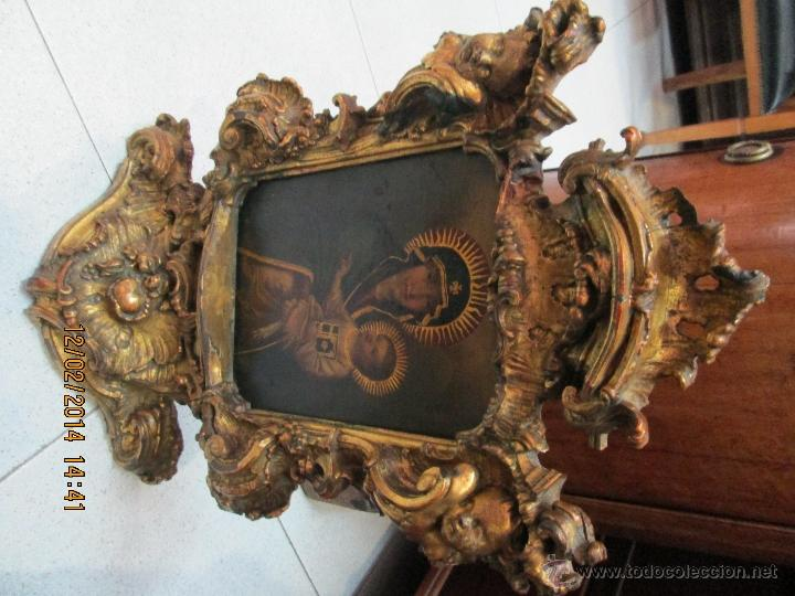 Arte: ANTIGUA SACRA ORIGINAL BARROCA S. XVII-PINTURA SOBRE COBRE icono Salus Populi Romani-Capilla Paulina - Foto 34 - 39683371