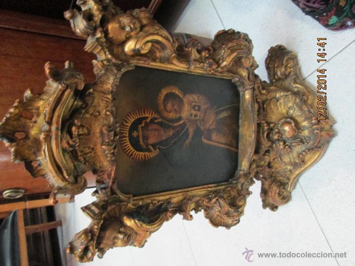 Arte: ANTIGUA SACRA ORIGINAL BARROCA S. XVII-PINTURA SOBRE COBRE icono Salus Populi Romani-Capilla Paulina - Foto 35 - 39683371