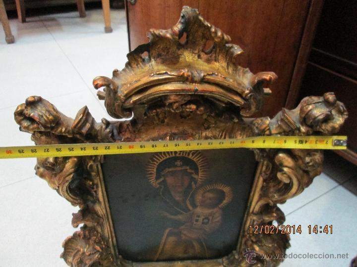 Arte: ANTIGUA SACRA ORIGINAL BARROCA S. XVII-PINTURA SOBRE COBRE icono Salus Populi Romani-Capilla Paulina - Foto 36 - 39683371