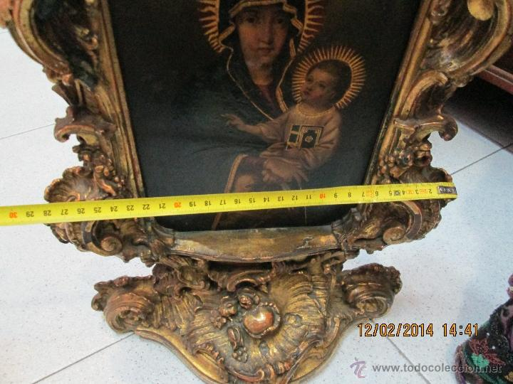 Arte: ANTIGUA SACRA ORIGINAL BARROCA S. XVII-PINTURA SOBRE COBRE icono Salus Populi Romani-Capilla Paulina - Foto 37 - 39683371