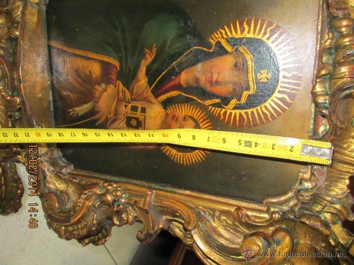 Arte: ANTIGUA SACRA ORIGINAL BARROCA S. XVII-PINTURA SOBRE COBRE icono Salus Populi Romani-Capilla Paulina - Foto 38 - 39683371