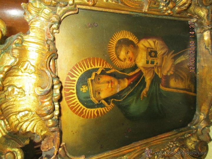 Arte: ANTIGUA SACRA ORIGINAL BARROCA S. XVII-PINTURA SOBRE COBRE icono Salus Populi Romani-Capilla Paulina - Foto 46 - 39683371
