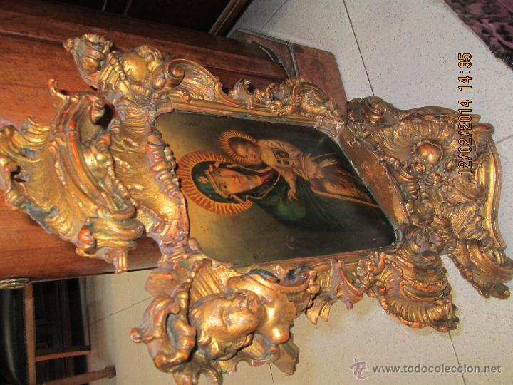 Arte: ANTIGUA SACRA ORIGINAL BARROCA S. XVII-PINTURA SOBRE COBRE icono Salus Populi Romani-Capilla Paulina - Foto 54 - 39683371