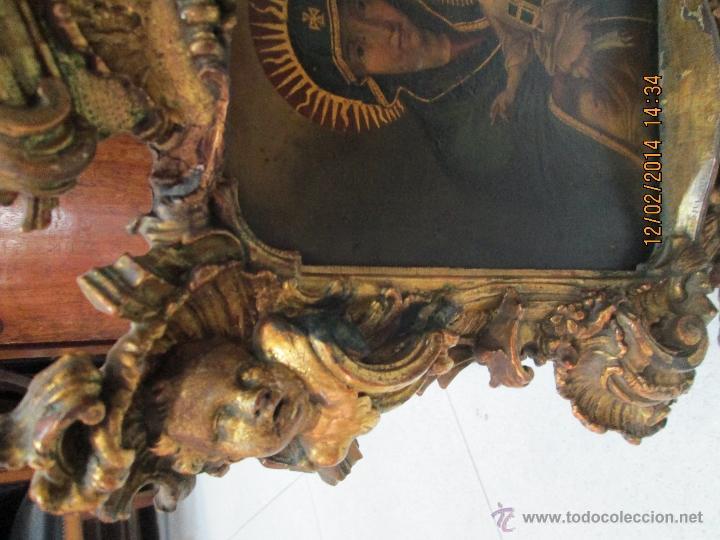 Arte: ANTIGUA SACRA ORIGINAL BARROCA S. XVII-PINTURA SOBRE COBRE icono Salus Populi Romani-Capilla Paulina - Foto 57 - 39683371