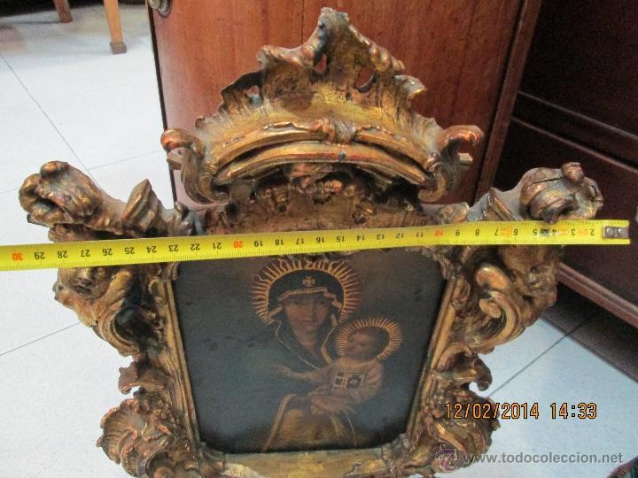 Arte: ANTIGUA SACRA ORIGINAL BARROCA S. XVII-PINTURA SOBRE COBRE icono Salus Populi Romani-Capilla Paulina - Foto 61 - 39683371