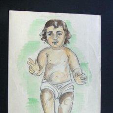 Arte: DIBUJO A LAPIZ Y ACUARELAS / MOTIVO RELIGIOSO / AÑOS 50 - SIN REFERENCIA. Lote 41598281