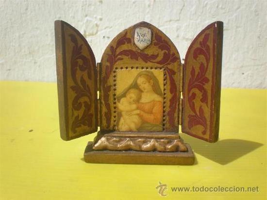 TRIPTICO ANTIGUO (Arte - Arte Religioso - Trípticos)