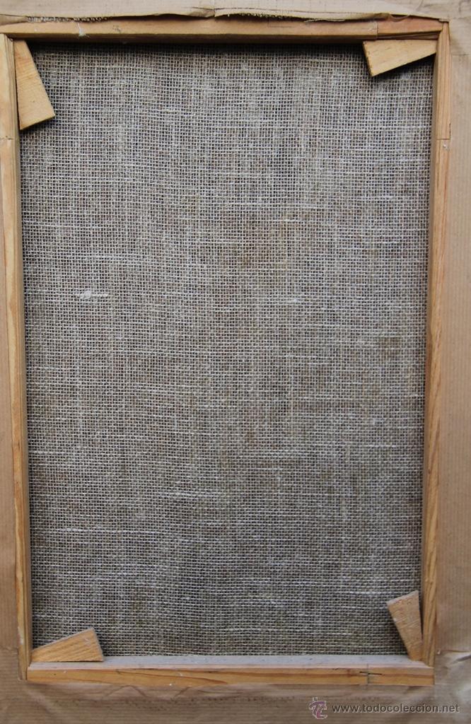 Arte: OLEO SOBRE LIENZO REENTELADO VIRGEN DOLOROSA CON GOLONDRINA EN SUS MANOS - SIGGLO XVIII XIX - Foto 6 - 41684003