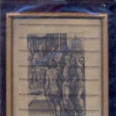 Arte: GRABADO ORIGINAL DEL SIGLO XVIII PROCEDENTE DE UNA BIBLIA. Lote 41725327