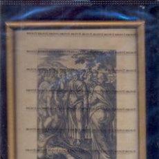 Arte: GRABADO ORIGINAL DEL SIGLO XVIII PROCEDENTE DE UNA BIBLIA. Lote 41725377