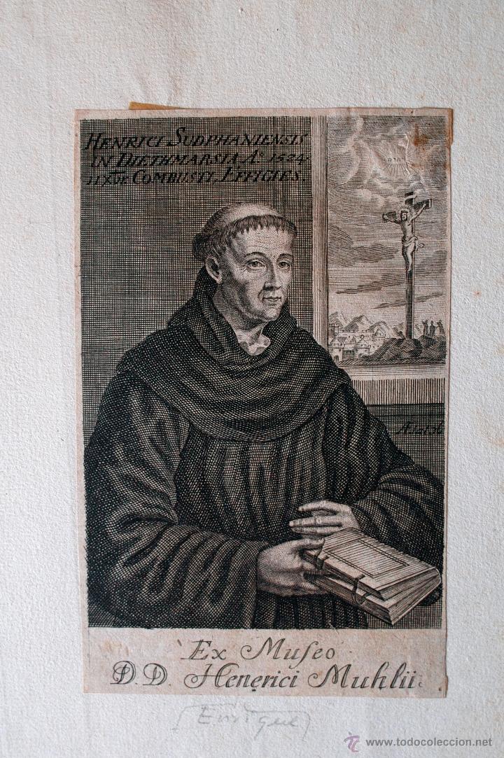 ANTIQUISIMO GRABADO DE HENRICI SUDPHANIENSIS (EX MUFEO) RAREZA (Arte - Arte Religioso - Grabados)