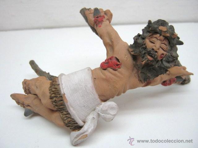 ORIGINAL ESCULTURA CRISTO TERRACOTA POLICROMADA (Arte - Arte Religioso - Escultura)