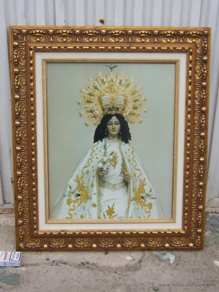 VIRGEN DE LA ENCARNACION EN LAMINA ENMARCADA (Arte - Arte Religioso - Pintura Religiosa - Otros)