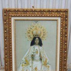 Arte: VIRGEN DE LA ENCARNACION EN LAMINA ENMARCADA. Lote 41792226
