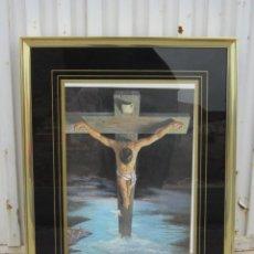 Arte: CRISTO EN LA CRUZ - LAMINA ENMARCADA. Lote 41792289