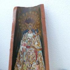 Arte: BONITA TEJA PINTADA AL OLEO AÑOS 60 VIRGEN DESAMPARADOS VALENCIA CHEPERUDETA MARE DE DEU. Lote 41987532