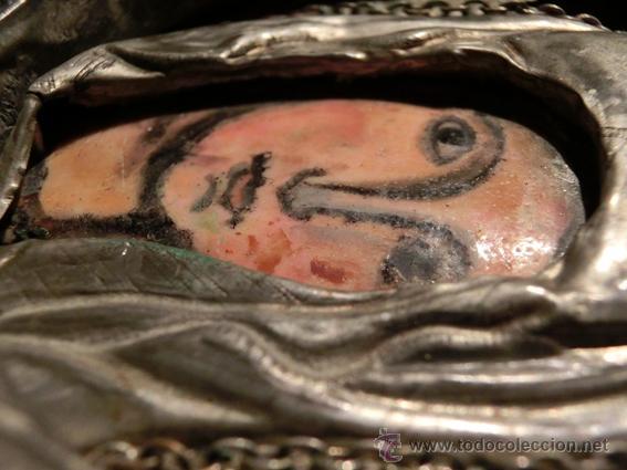 Arte: PEQUEÑO ICONO ESMALTADO. VIRGEN. ARTESANAL LATÓN Y ESMALTE MUY COLORIDO - Foto 16 - 76426238
