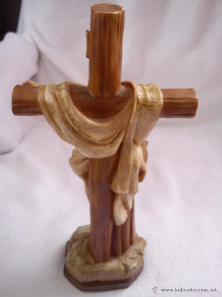 Arte: PRECIOSA ESCULTURA DE JESUS CRISTO CON San Francisco de asis.HECHA DE RESINA SELLADA AÑO 1992 - Foto 5 - 42144826